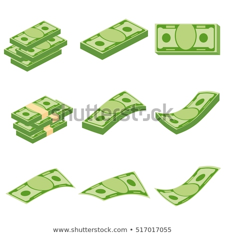 set of dollar bank notes packed money stock photo © loopall