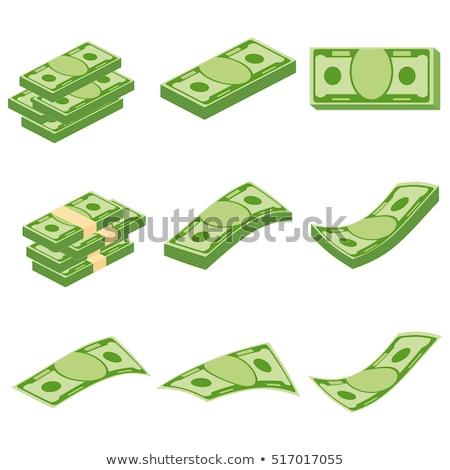 Establecer dólar banco notas dinero aislado Foto stock © LoopAll