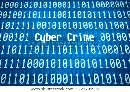 binary code with the word cyber crime in the center stock photo © zerbor