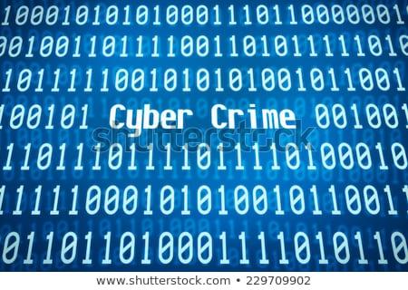 двоичный код слово преступление центр аннотация безопасности Сток-фото © Zerbor