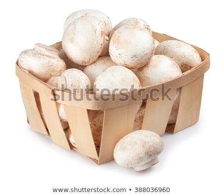 Mushrooms Champignon In A Wicker Basket Stock photo © Cipariss