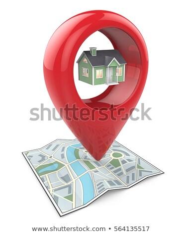 Piros GPS illusztráció terv ikon út Stock fotó © nickylarson974