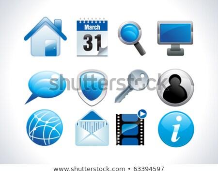 Calender Sign Blue Vector Icon Button Stock photo © rizwanali3d