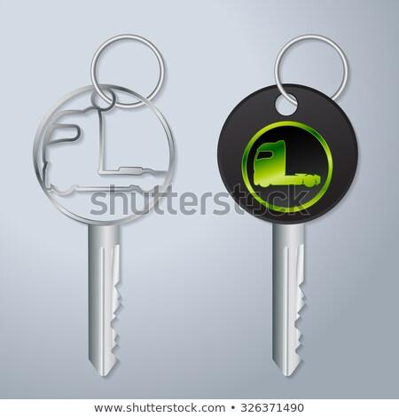 autó · gyújtás · kulcs · akasztás · biztonság · belső - stock fotó © vipervxw