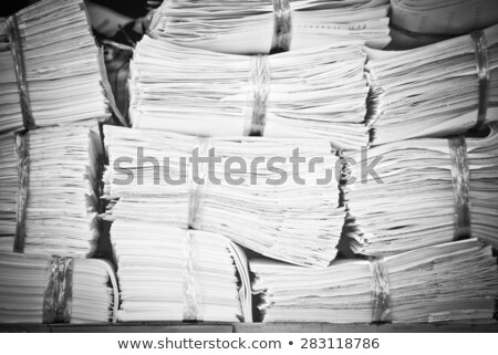 Stack of papers with the binding Stock photo © Ralko