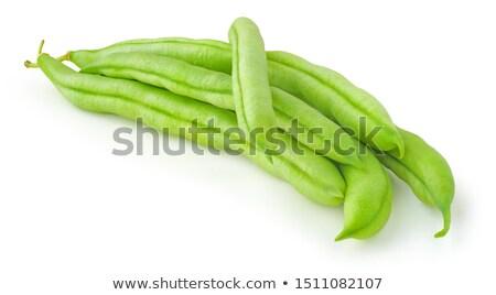 Zielona fasola zielona fasola biały zielone rynku Zdjęcia stock © tilo