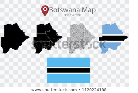 Map of Republic of Botswana with with Dot Pattern Stock photo © Istanbul2009