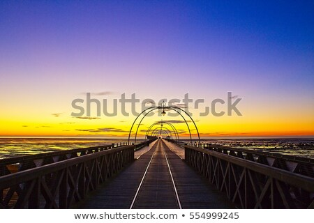 Southport Pier Sunset stock photo © patricianiland