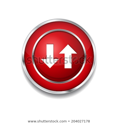 Beneden sleutel vector Rood web icon Stockfoto © rizwanali3d