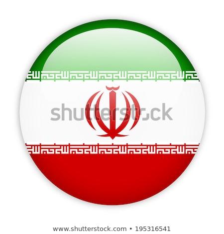 Icon vlag Iran geïsoleerd witte reizen Stockfoto © MikhailMishchenko