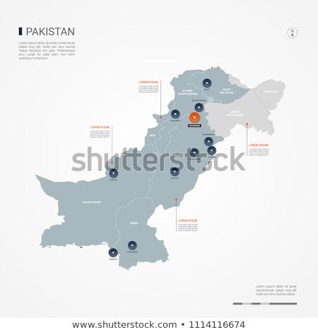 Gomb szimbólum Pakisztán zászló térkép fehér Stock fotó © mayboro1964