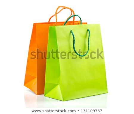 verde · bolsa · de · compras · 3D · prestados · imagem · saco - foto stock © bayberry