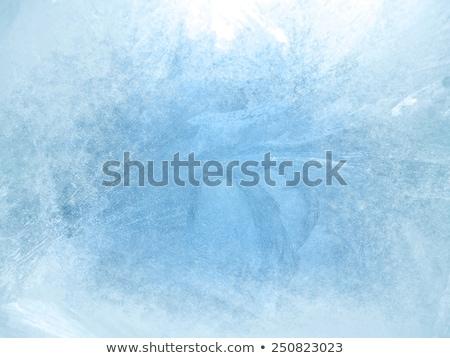 Jeges gyönyörű kék víz absztrakt tájkép Stock fotó © blumer1979