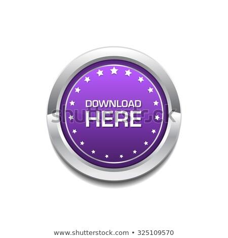 скачать · здесь · фиолетовый · вектора · икона · дизайна - Сток-фото © rizwanali3d