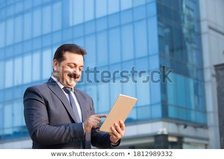 肖像 · ビジネスマン · 孤立した · 白 · 痛み - ストックフォト © szefei