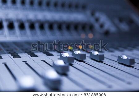 Kontrol tahta ses mikser detay seçici odak Stok fotoğraf © stevanovicigor