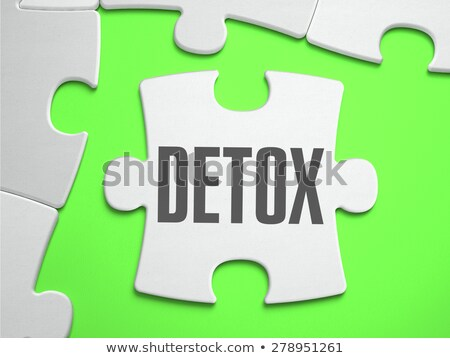 Detoxikáló kirakós játék hiányzó darabok fényes zöld Stock fotó © tashatuvango