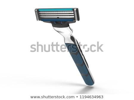 Penge borotva fehér fémes izolált sziluett Stock fotó © creatOR76