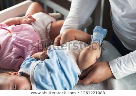 Nacido masculina ilustración familia bebé sonrisa Foto stock © adrenalina