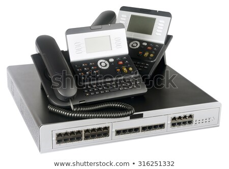 ストックフォト: 電話 · スイッチ · 電話 · 白 · デジタル · セット