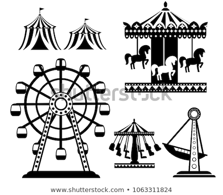 merry-go-round with ferris wheel Stock photo © Rob_Stark