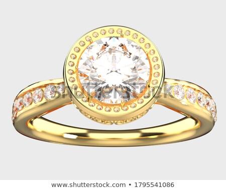 Nagy arany szeretet 3D arany szó Stock fotó © Supertrooper