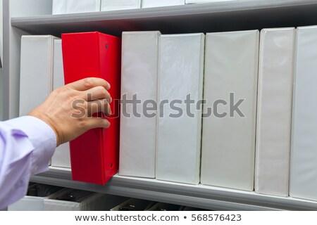 Fiók faliszekrény címke üzlet fém felirat Stock fotó © Zerbor