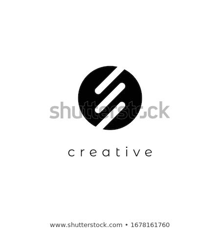 ストックフォト: 抽象的な · ベクトル · ロゴ · グラフィック · 黒