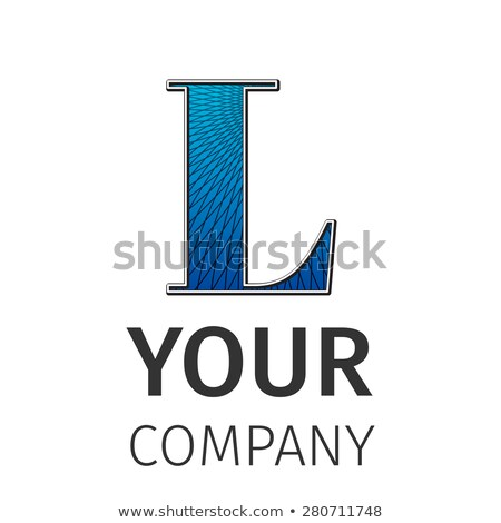Stockfoto: Abstract · logo · letter · l · icon · ontwerpsjabloon · communie