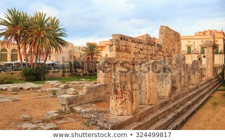 Templom Szicília Olaszország romok városi Európa Stock fotó © Photooiasson