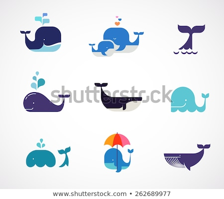 Stock photo: whale icon with speech bubbles