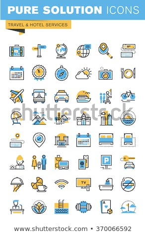 Available Blue Vector Icon Design Stock photo © rizwanali3d