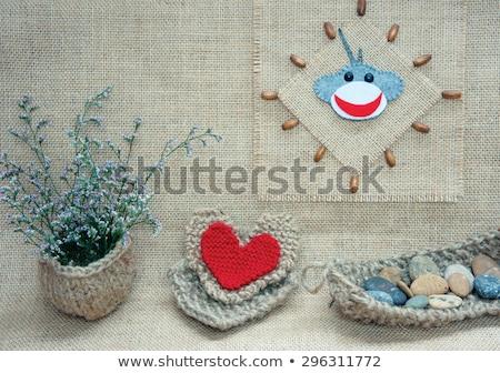 monkey, happy new year 2016, time, clock, handmade Stock photo © xuanhuongho