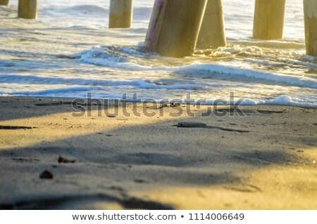 волны · фунт · пирс · Калифорния · высокий - Сток-фото © emattil