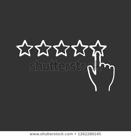 star rating icon drawn in chalk stock photo © rastudio