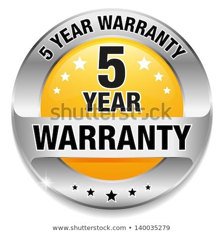 5 Years Warranty Yellow Vector Icon Button Stock photo © rizwanali3d