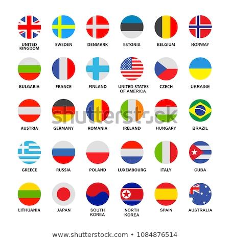 Reino Unido Cuba bandeiras quebra-cabeça isolado branco Foto stock © Istanbul2009