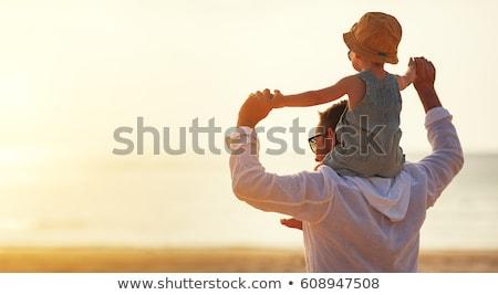 bebek · gökyüzü · eller · el · gülümseme · çocuklar - stok fotoğraf © Paha_L