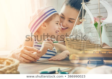 матери · детей · лодка · игрушку · судно · девушки - Сток-фото © Paha_L