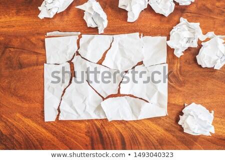 кусок бумаги Eraser карандашом изолированный белый Сток-фото © cherezoff