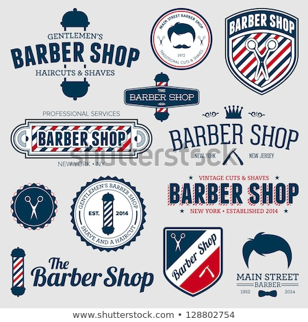 barbero · tienda · excelente · eps · 10 · mujer - foto stock © netkov1