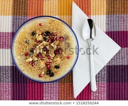 Stockfoto: Kleurrijk · gezonde · pudding · turks · zoete · graan