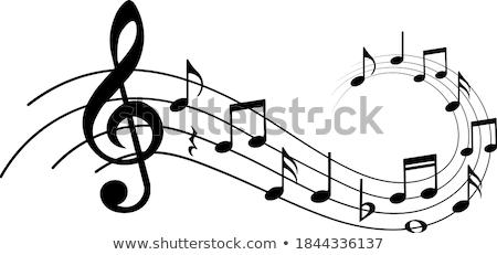 Musical staves on white Stock photo © m_pavlov