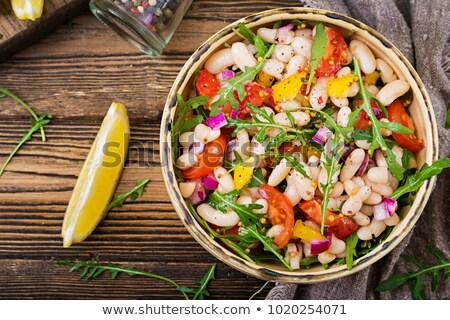 Salade nier boon hout Blauw wortel Stockfoto © Digifoodstock