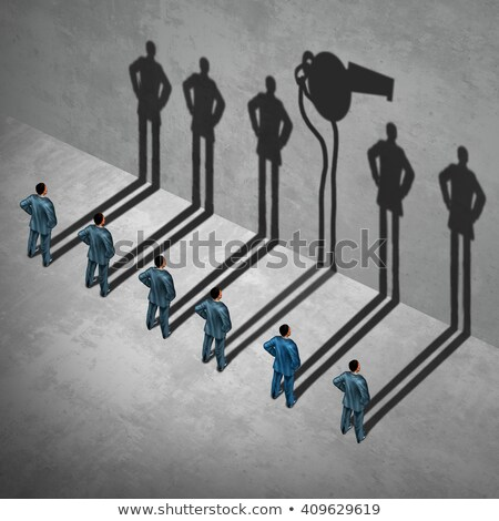 whistle blower or whistleblower concept as a symbol of a secret informer agent posing as an employee stock photo © lightsource