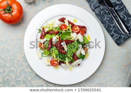 sol · secas · tomates · branco · salada · tomates - foto stock © digifoodstock