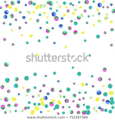 Kolorowy konfetti ziarnisty streszczenie wielobarwny ilustracja Zdjęcia stock © smeagorl