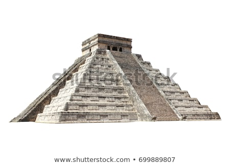 pyramides · stylisé · anciens · jungle · nature · paysage - photo stock © tracer