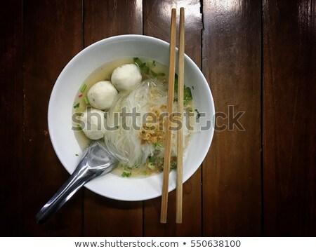 麺 ミートボール 皿 野菜 鶏 青 ストックフォト © Digifoodstock