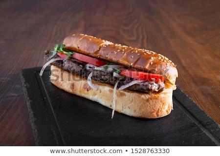 Sandviç fransız et gıda plaka Stok fotoğraf © Digifoodstock